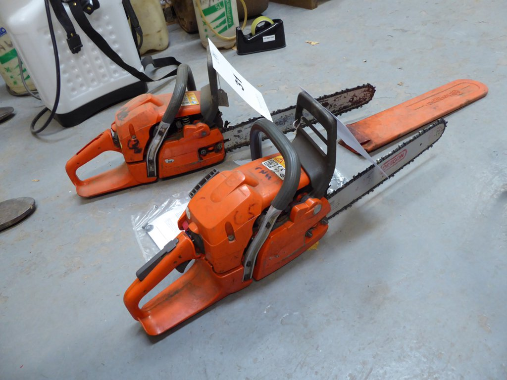 Two Husqvarna 350 petrol chain saws (for spares / repairs)