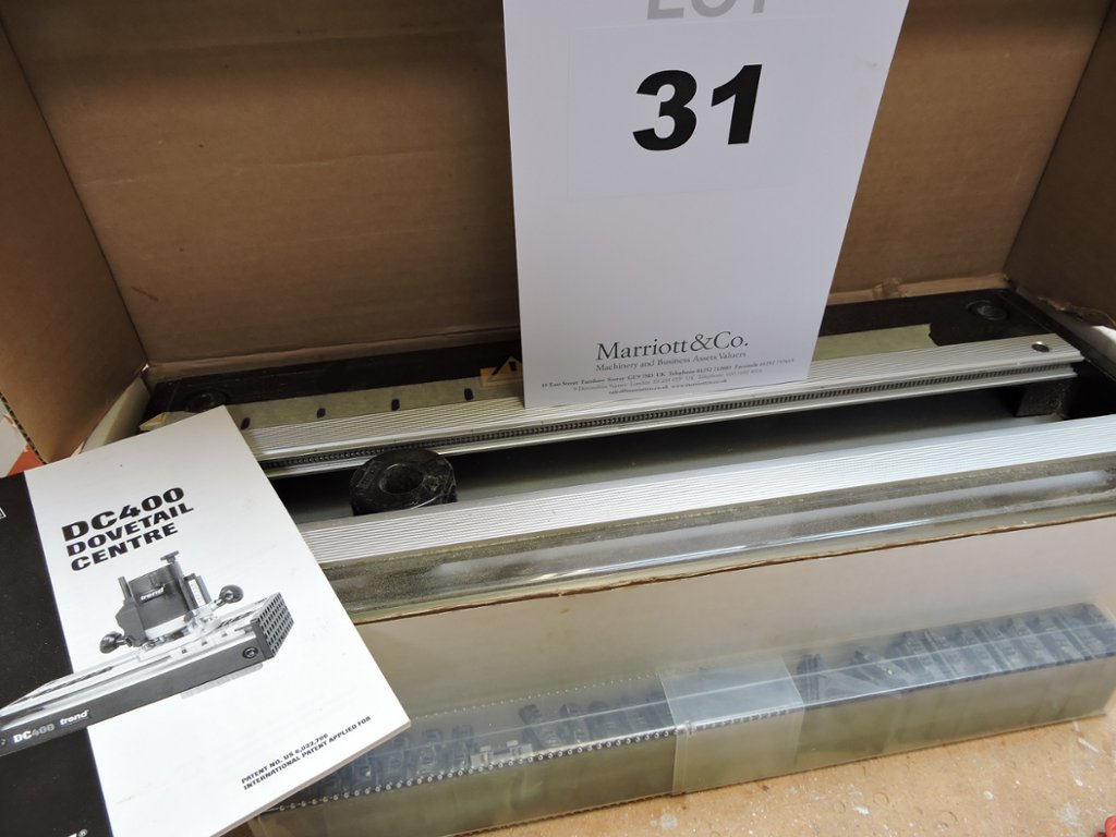 A Trend DC400 Dovetail Jig Centre, with housing joint template ...