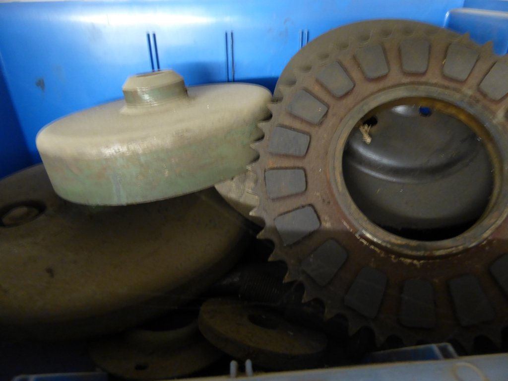 A quantity of spare parts for Ransome mowers including a grass box